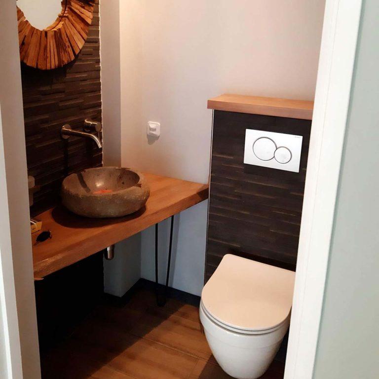 Renovatie toilet gereed
